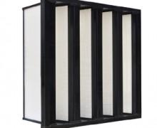 塑框V型W型组合式高效过滤器