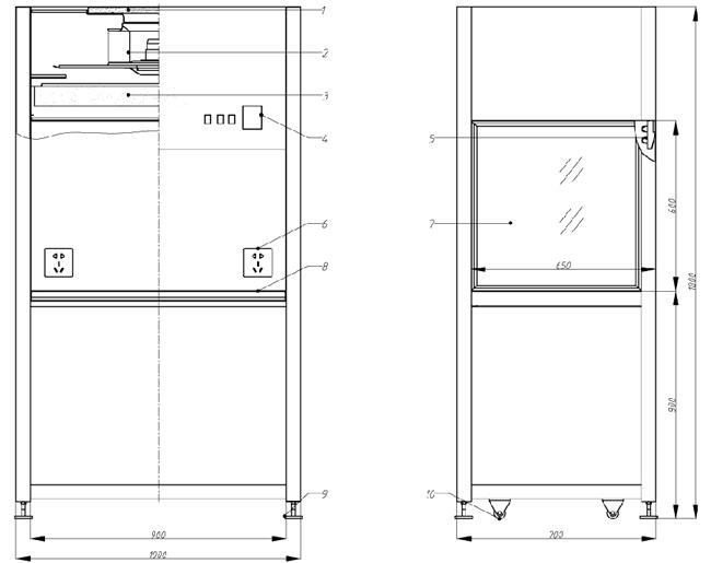 垂直流超净工作台方案图