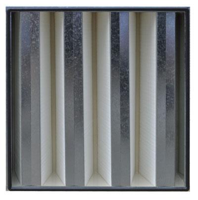 镀锌框组合式高效过滤器正面
