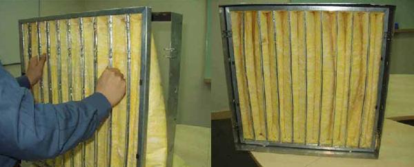 F8级玻璃纤维袋式中效过滤器