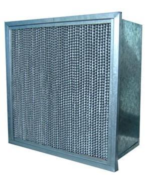 铝隔板高效过滤器主要应用于腐蚀性环境中,捕捉0.3umr粒子效率.