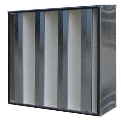 镀锌框组合式高效过滤器设计风量可以高达4200m3/h。用于大风量的环境使用。
