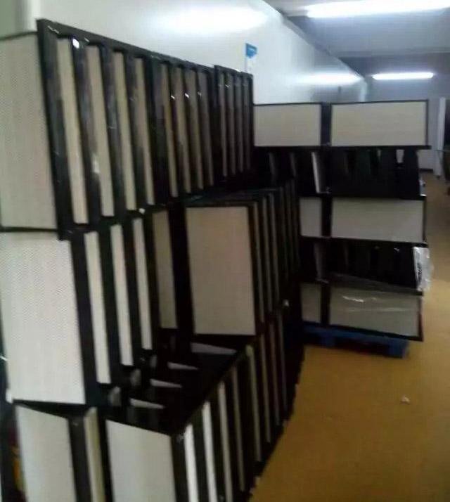 准备出货的塑框V型W型组合式高效过滤器