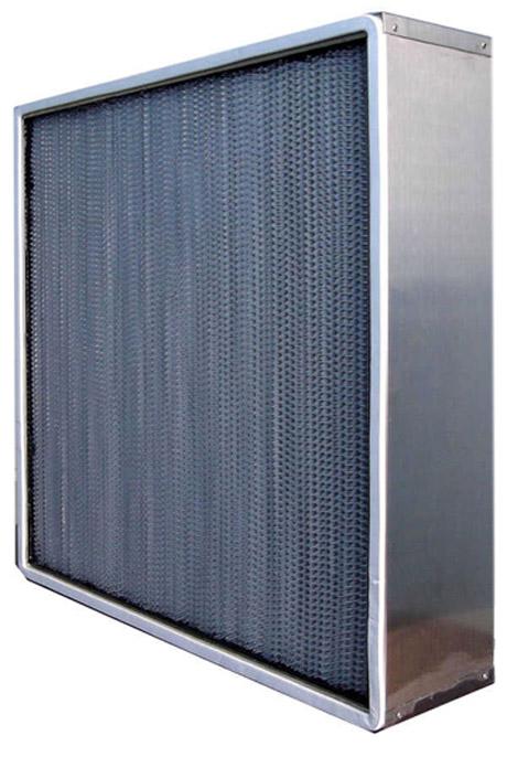无法兰耐高湿有隔板高效过滤器