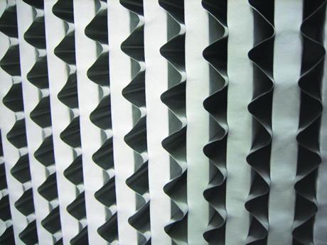 耐高湿有隔板高效过滤器铝波特写