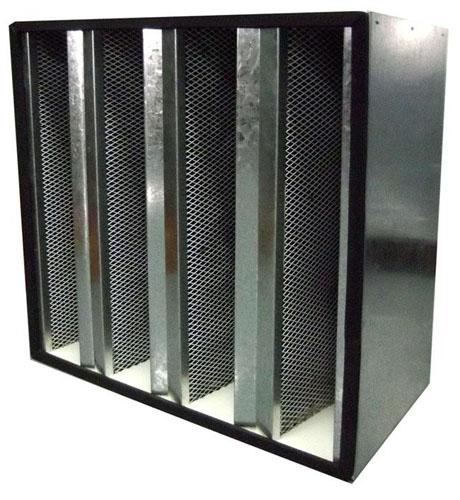 组合式活性炭高效过滤器专为中央空调和集中通风系统设计,清除空气的异味(恶臭)和有害气体(酸碱性气体,甲醛,汞蒸气)。
