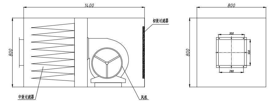 冷板烤漆新风柜结构图可以更直观的让用户了解其内部结构。