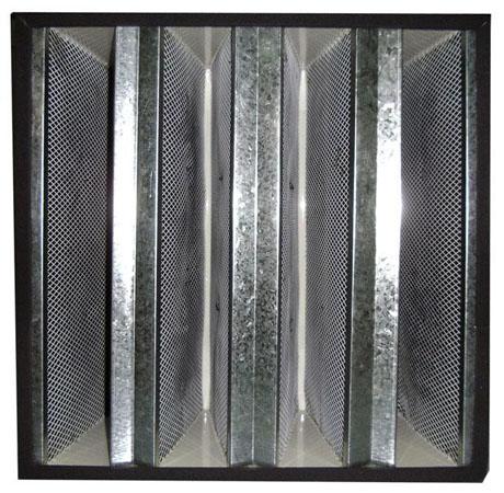 镀锌框组合式活性炭过滤器用于清除空气中的高浓度酸、碱及有机化合物气体和空气中的各类有害气体