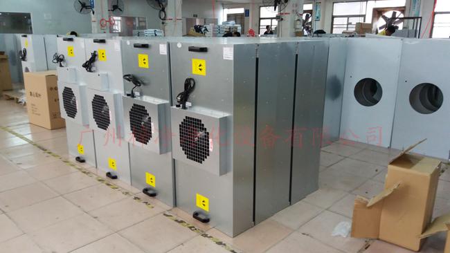 风机过滤器单元FFU 是一种 自带动力具有过滤功效的模块化的末端送风装置 。