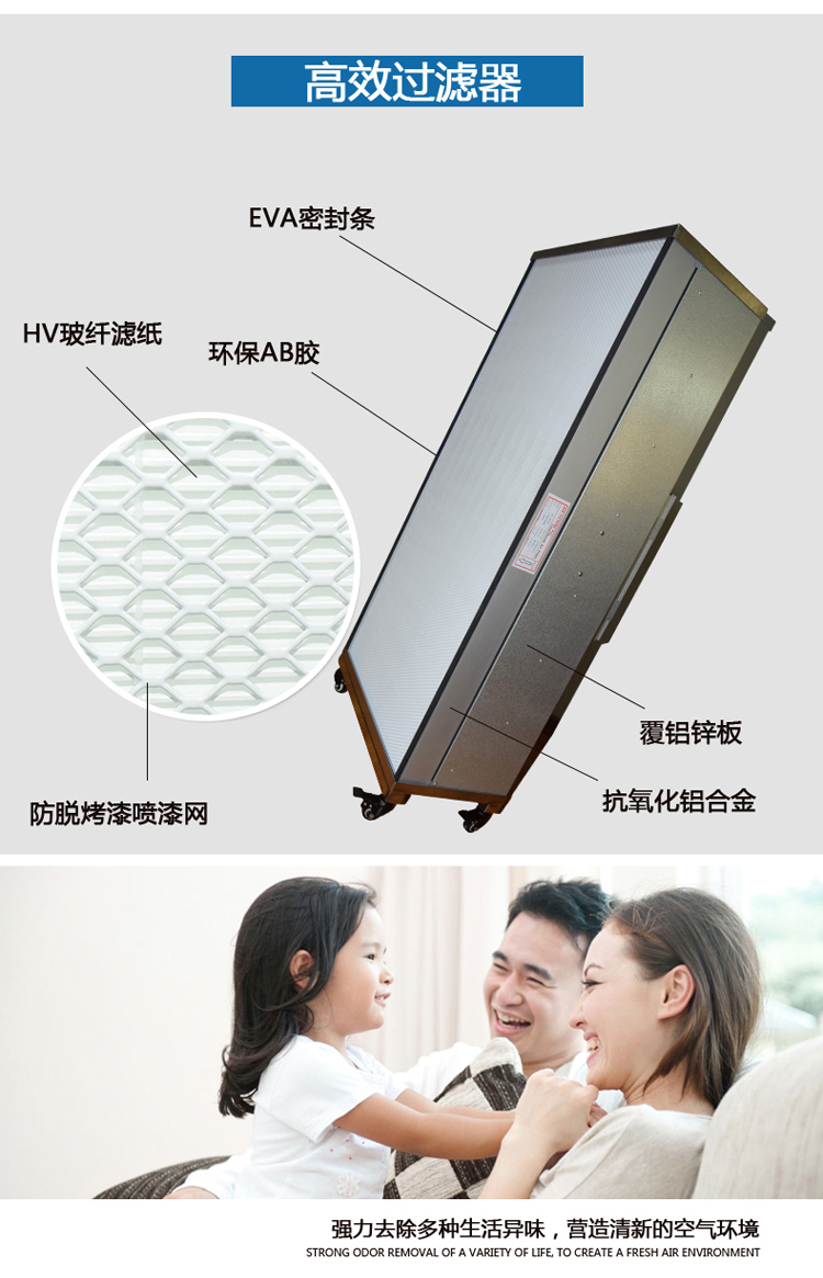 家用FFU空气净化器结构图