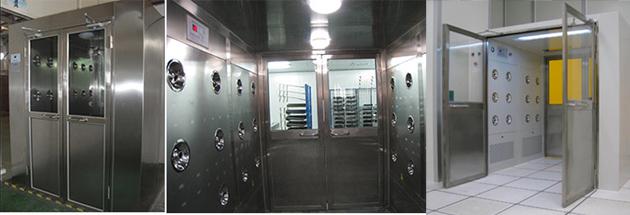 风淋室风淋门通道主要是为洁净室进出工作人员较多的场所而设计。