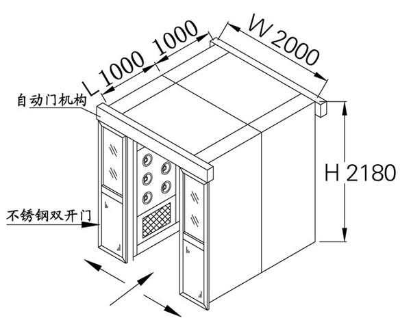 全自动平移门货淋室方案图