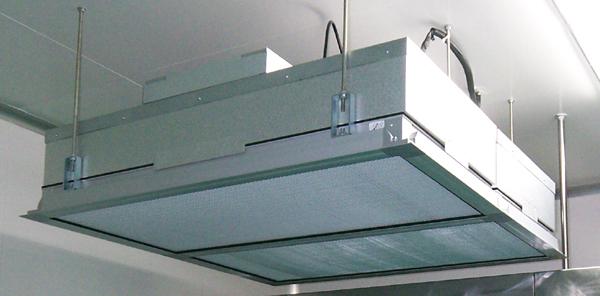 洁净层流罩是一种可提供局部洁净环境的空气净化单元,可灵活地安装在需要高洁净度的工艺点上方,洁净层流罩可以单个使用,也可多个组合成带状洁净区域。