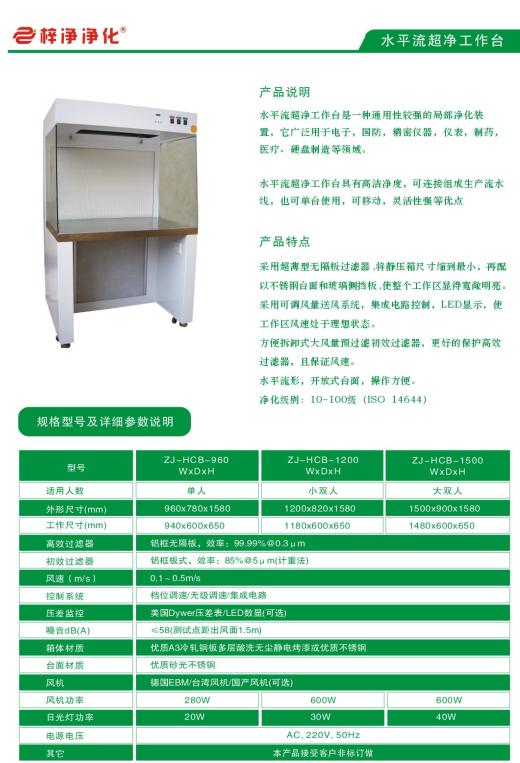 水平层流工作台是静脉药物配置中心最重要的净化设备。