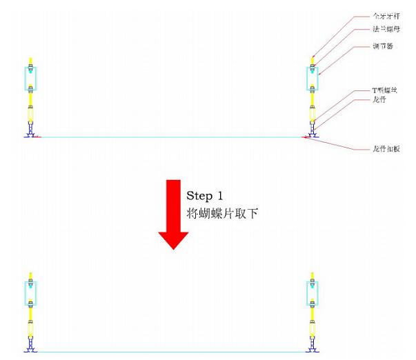 FFU箱体与高效过滤器整体与龙骨之间的安装步骤