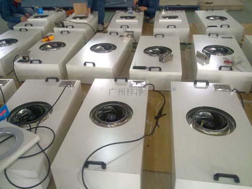FFU已经广泛应用于食品、包装、电子、组培等净化车间。