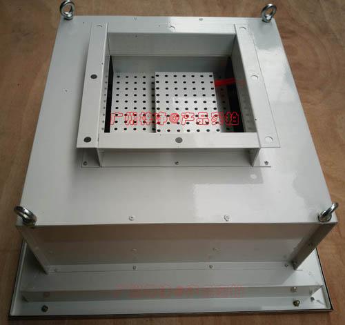 DOP高效送风口箱体材质有冷轧钢板静电喷塑,可以提供不锈钢或者铝板材质