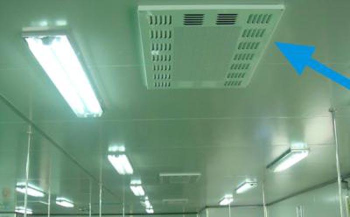 洁净室高效送风口安装效果图