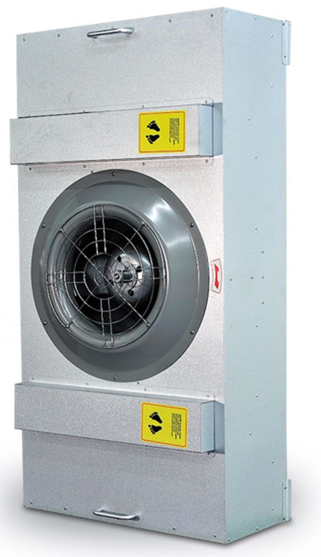 ffu洁净单元广泛用于:洁净度在Class1-1000级各种洁净室,并可组装成超净生产线、洁净工作室、洁净棚、无尘衣柜、超净工作台。
