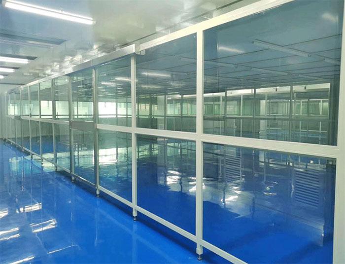 流水线洁净棚又称为生产线洁净室或者组装式洁净棚,水线生产无尘棚,洁净组装流水线生产洁净棚,净化风淋流水线